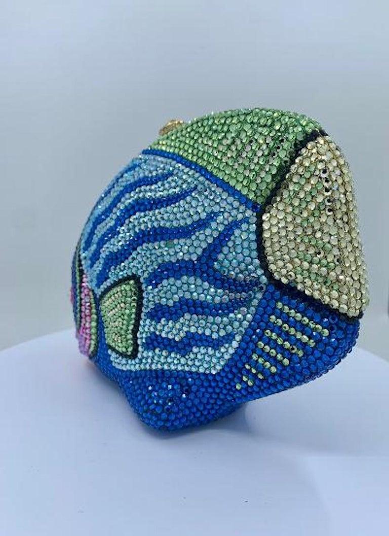 Kathrine Baumann Tropical Fish Swarovski Crystal Minaudiere Evening Bag For Sale 4