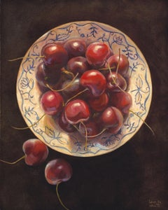 """Cherries in Blue and White"""
