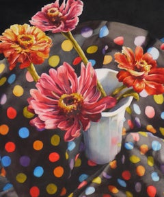 """Zinnias and Dots"""