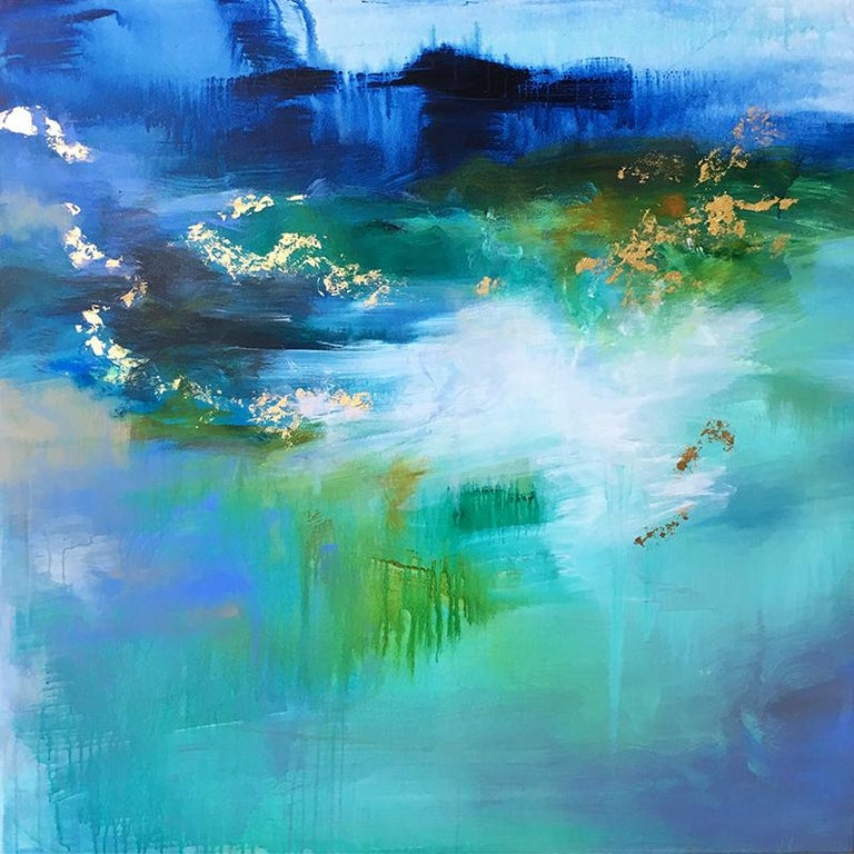 Kathy Buist Abstract Painting - Morning Meditation II