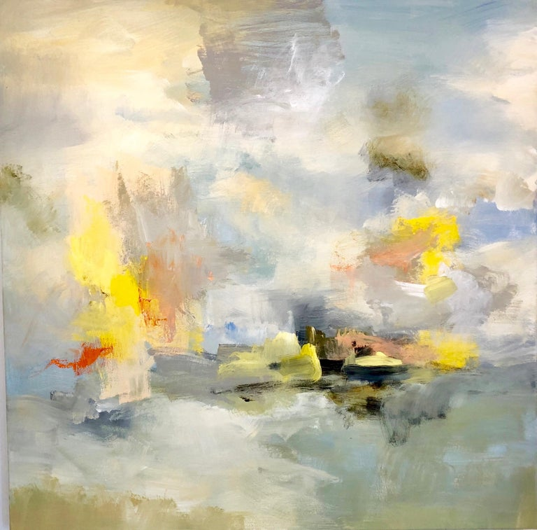 Kathy Buist Abstract Painting - Synchronize