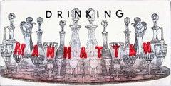 Crystal Towers - Original Kati Elm Pop Art Painting