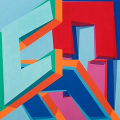 CONDITIONAL PROBABILITY - colorful geometric abstraction painting