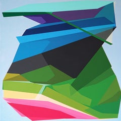 FORCES HIDDEN IN THE ASSEMBLY - colorful geometric abstraction painting