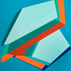MODERATE DRIFTERS - colorful geometric abstraction painting