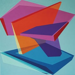 TEMPORARY CASE - colorful geometric abstraction painting