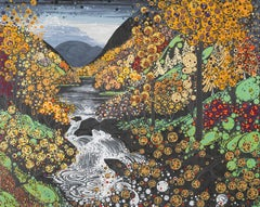 Autumn Betws y Coed BY KATIE ALLEN, Limited edition linocut print, Landscape Art
