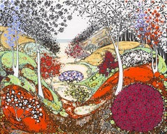 Indian Summer BY KATIE ALLEN, Limited Edition Abstract Landscape Prints for Sale