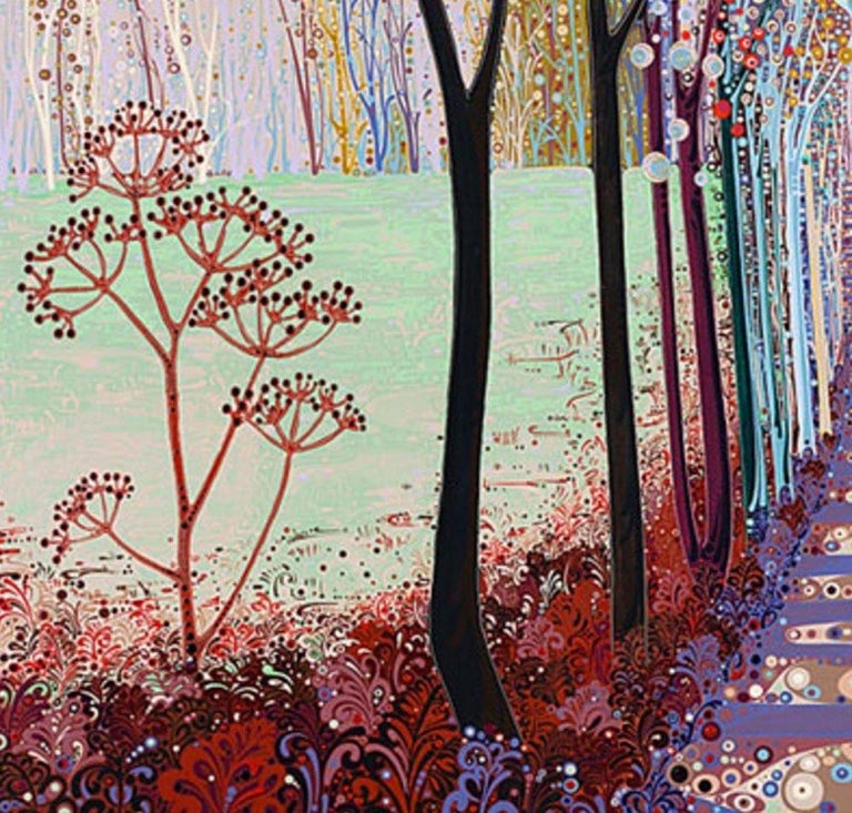 Somewhere in between, stylised abstract landscape print, colourful impressionist For Sale 2