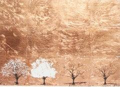 Copper Seasons, Katie Edwards Limited Edition Silkscreen Print, Contemporary Art
