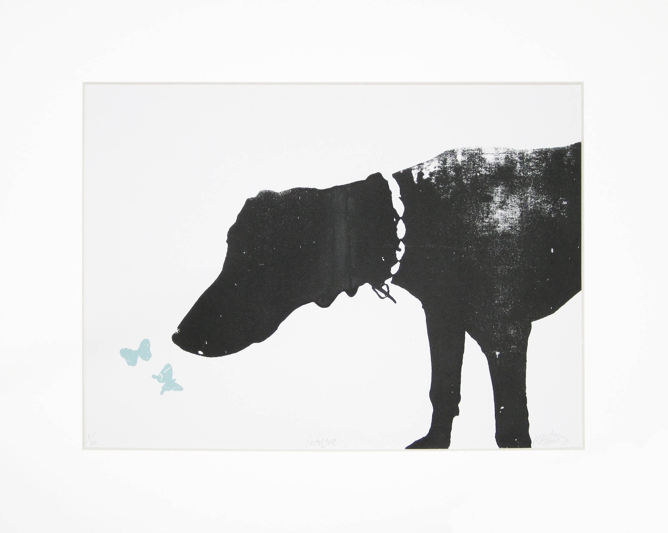 Intrigue, Katie Edwards, Animal Art, Dog Art, Street Art, Contemporary Print