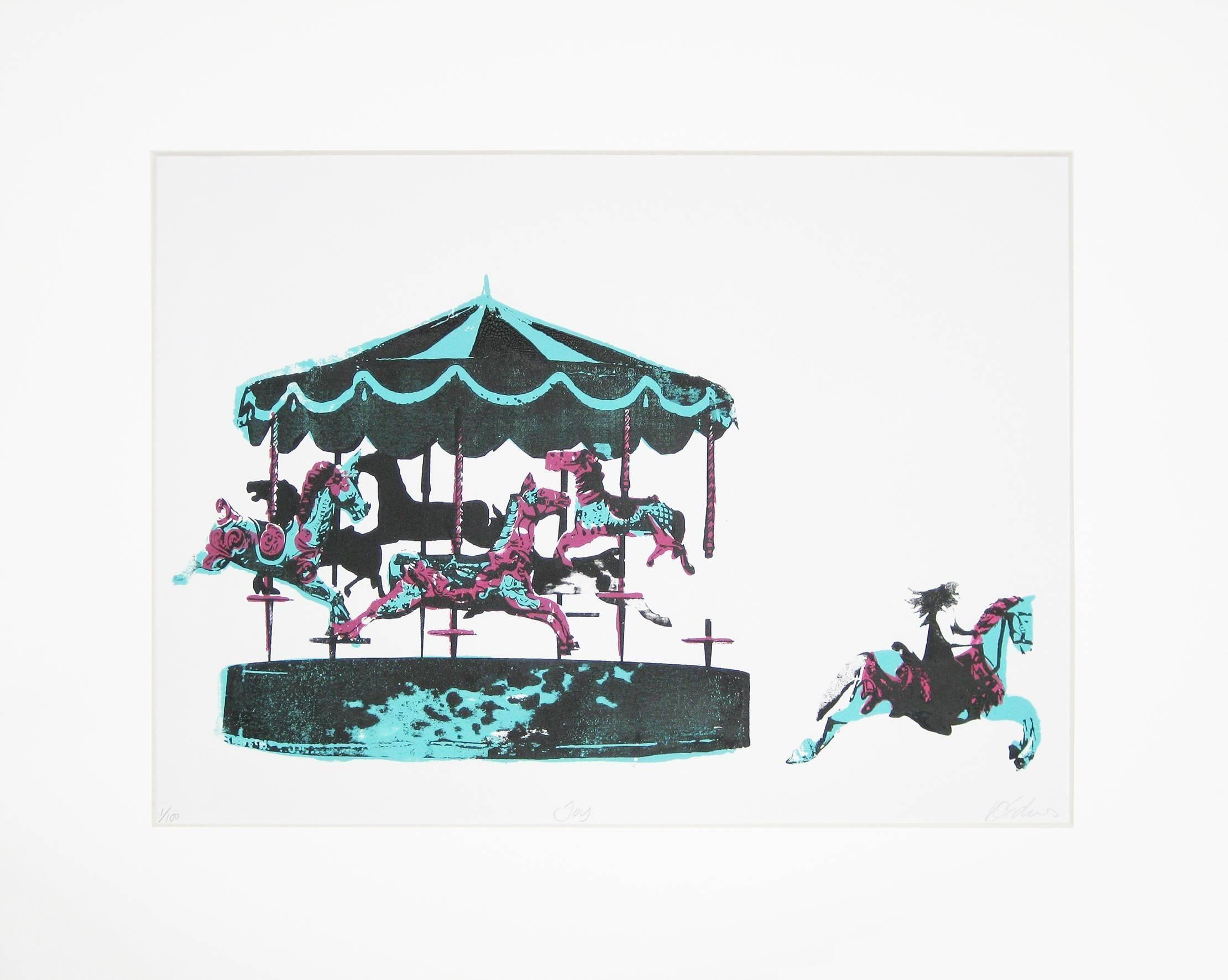 Joy, Katie Edwards, Limited Edition Print, Happy Art, Street Art, Bright Prints