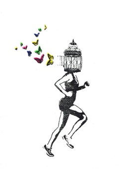 Katie Edwards, Freedom, Limited Edition Art, Contemporary Print, Figurative Art