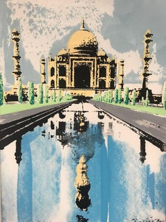 Katie Edwards, Taj Mahal, Contemporary Limited Edition Indian Architectural Art