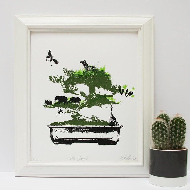 Little Jungle, Katie Edwards, Limited Edition Print, Surrealist Landscape Art For Sale 1