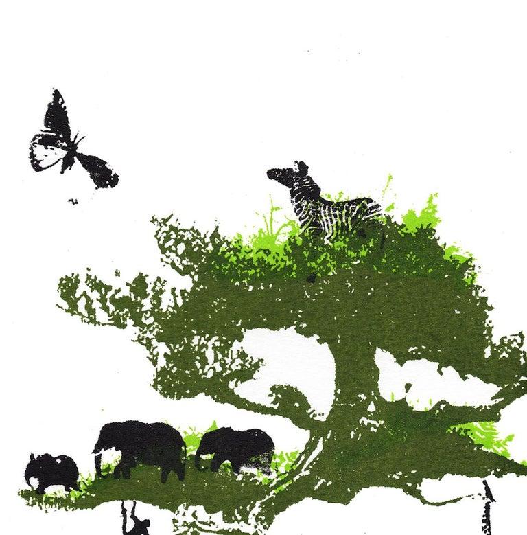 Little Jungle, Katie Edwards, Limited Edition Print, Surrealist Landscape Art For Sale 3