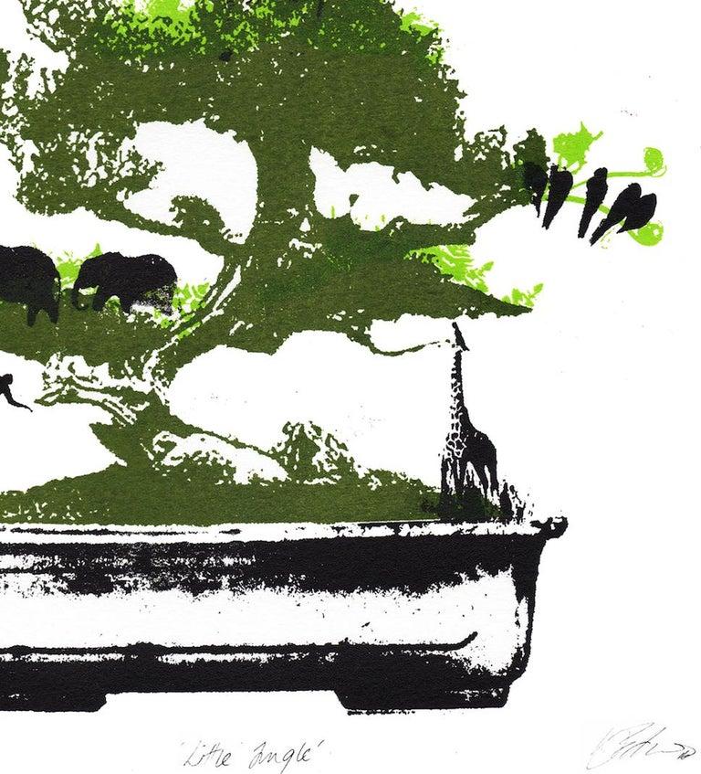 Little Jungle, Katie Edwards, Limited Edition Print, Surrealist Landscape Art For Sale 4