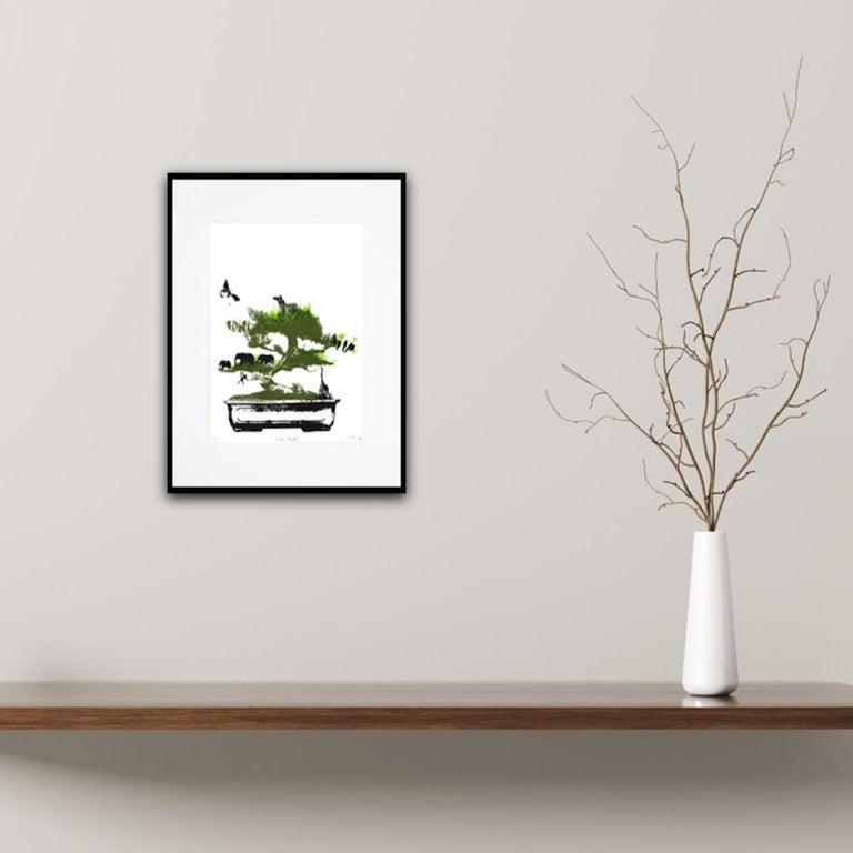 Little Jungle, Katie Edwards, Limited Edition Print, Surrealist Landscape Art For Sale 6