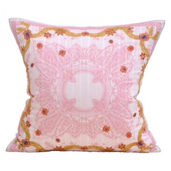 Katie Larmour Vintage Christian Dior Scarf Backed in Pure Irish Linen Cushion