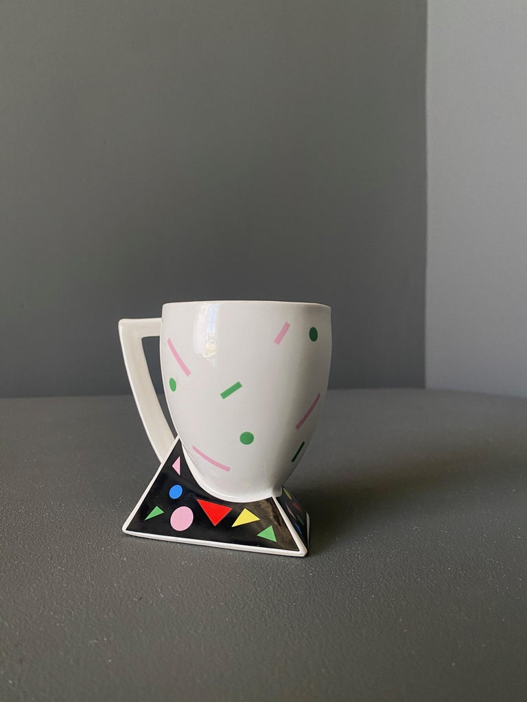 Kato Kogei Fujimori Collection Postmodern ALPHA-3 mug. Japan, circa 1980.