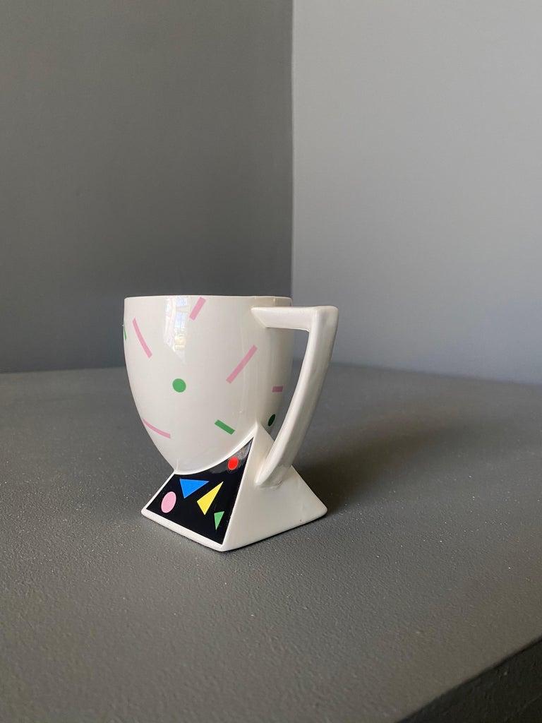 Japanese Kato Kogei Fujimori Collection Postmodern Mug, circa 1980 For Sale