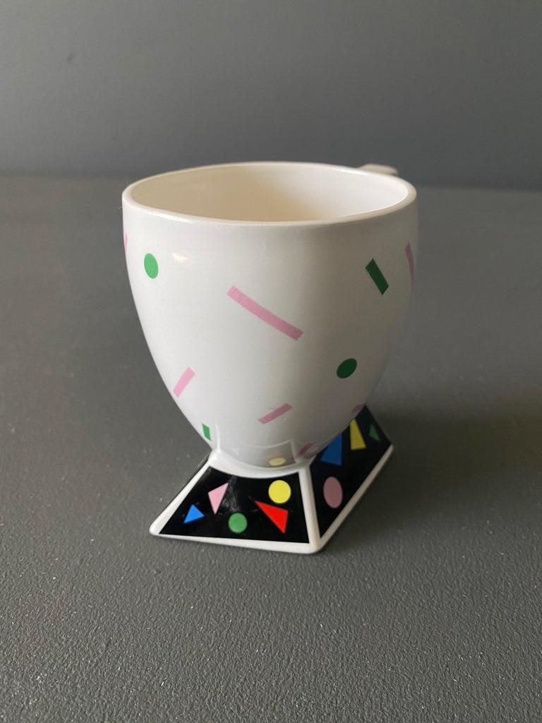 Kato Kogei Fujimori Collection Postmodern Mug, circa 1980 In Good Condition For Sale In Costa Mesa, CA