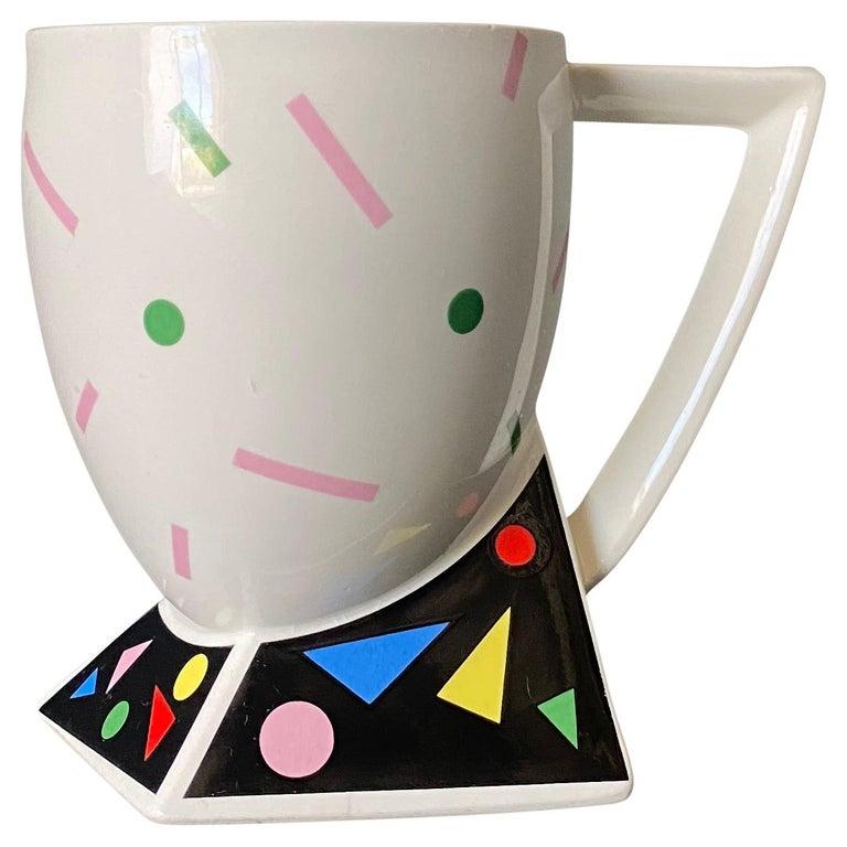 Kato Kogei Fujimori Collection Postmodern Mug, circa 1980 For Sale