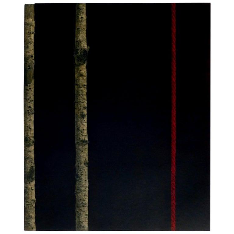 """Katsunori Hamanishi Japanese Mezzotint Print, 1989, """"Division - Work No. 5"""""""