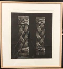 Combination Knit, mezzotint by Katsunori Hamanishi, rope, Japan, black and white