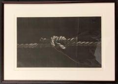Object Rope, mezzotint by Katsunori Hamanishi, black and white, rope