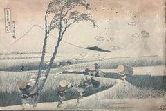 Ejiri in the Suruga Province - Original Woodcut by Katsushika Hokusai - 1833/34