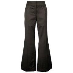 KAUFMAN FRANCO Size 10 Black Wool Wide Leg Dress Pants