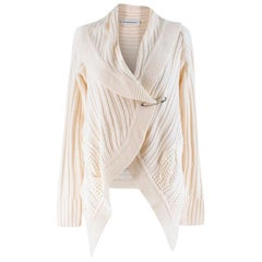 Kaufmanfranco White Cable-knit Cardigan SIZE S