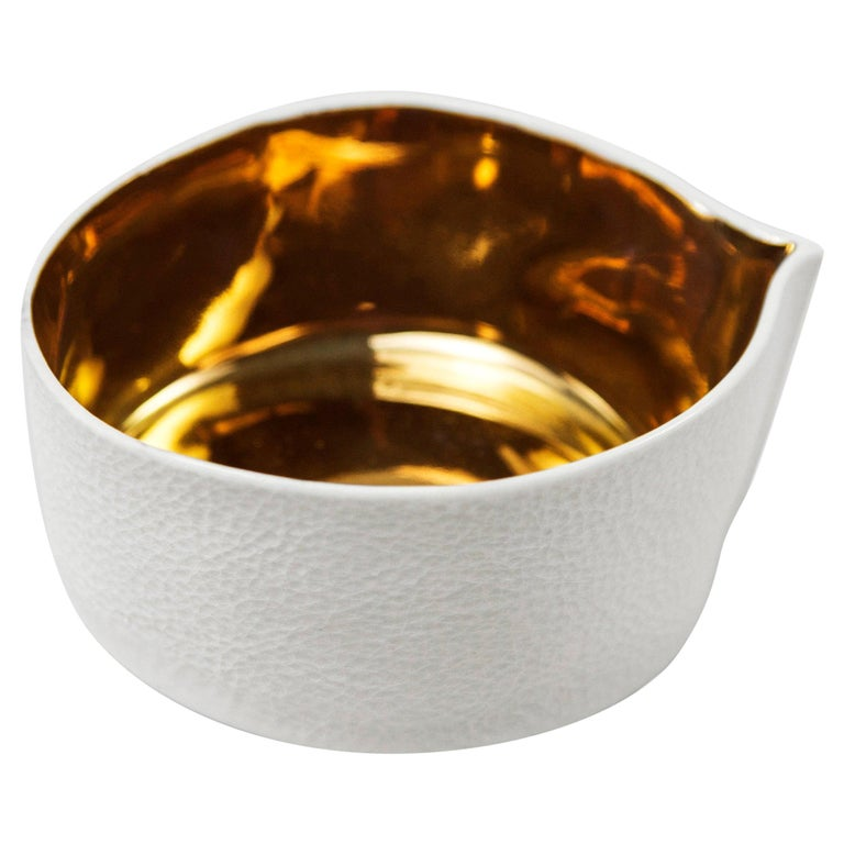 Kawa Dish with Gold Glaze by Luft Tanaka, Made to Order For Sale