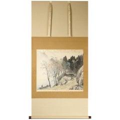 Kawai Gyokudō Nihonga Scene Early 20th Century Scroll Painting Japan Artist