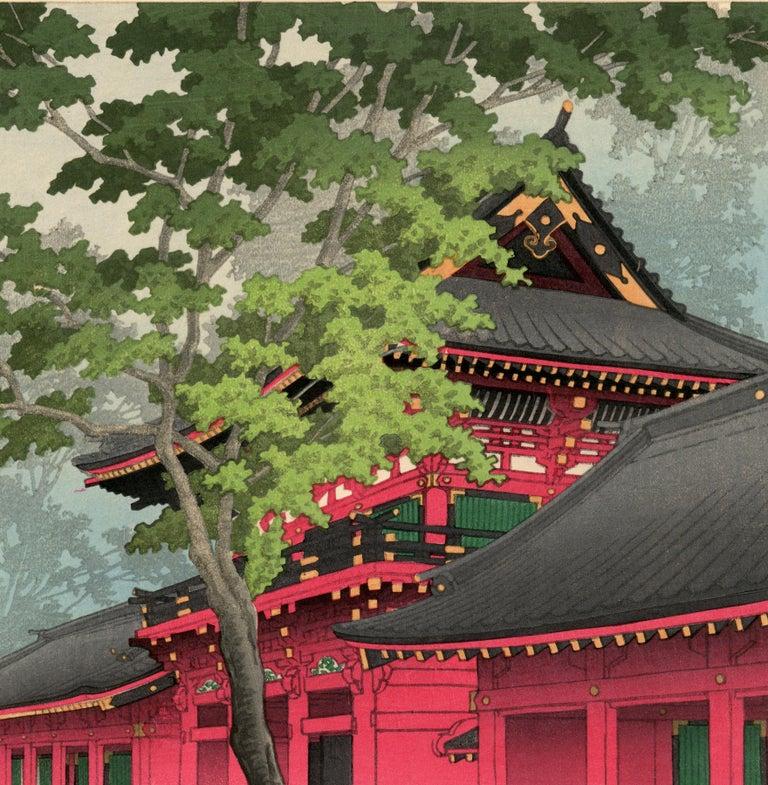 After the Rain at Sanno - Showa Print by Kawase Hasui