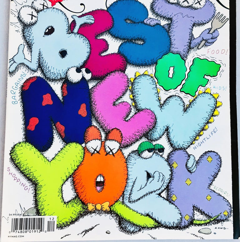 Kaws Cover Art 'New York Magazine, 2009 In Excellent Condition For Sale In New York, NY