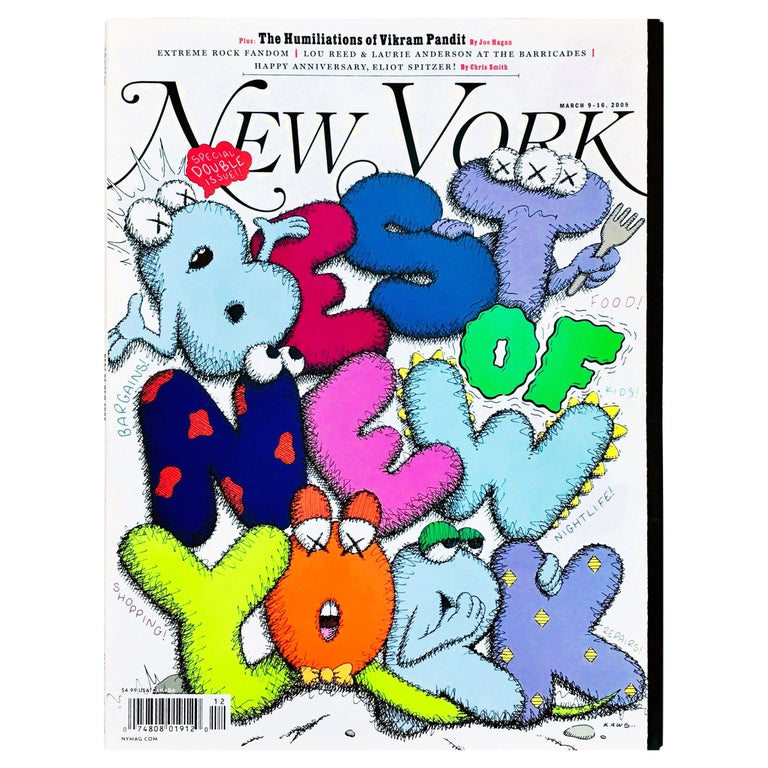Kaws Cover Art 'New York Magazine, 2009