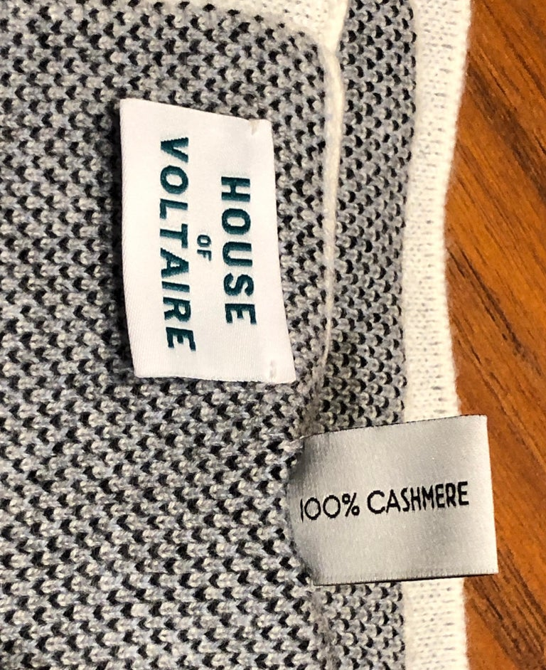 Woven Kaws Limited Edition Cashmere Blanket by House of Voltaire For Sale