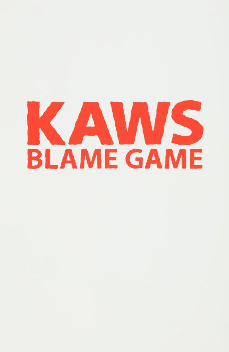 KAWS, 'Blame Game' II, 2014 - Gray Abstract Print by KAWS