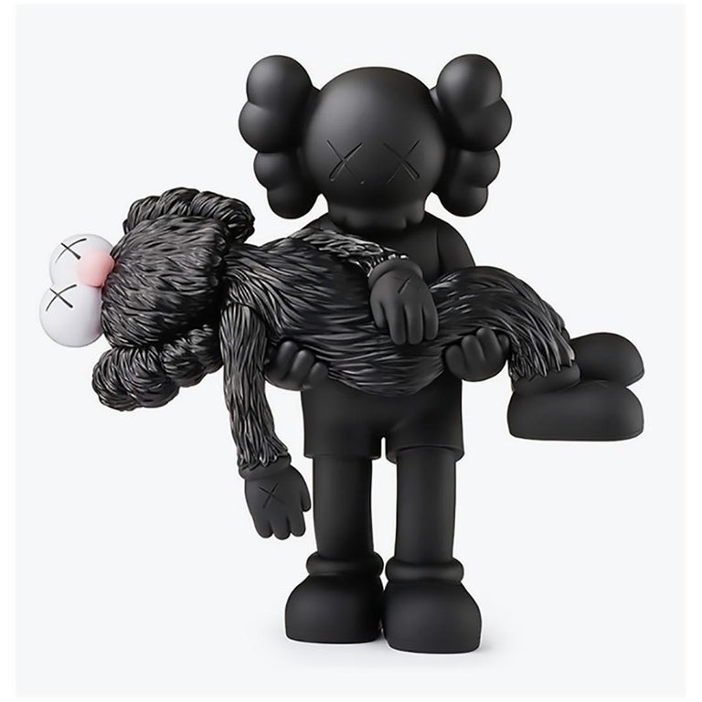 KAWS GONE Black Companion (black KAWS gone) - Street Art Sculpture by KAWS