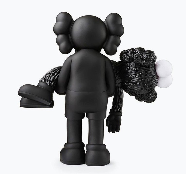 KAWS GONE (Black), new & unopened in its original packaging.  A well-received work and variation of KAWS' large scale GONE sculpture - a key highlight of KAWS' recent exhibition, 'KAWS: Companionship in the Age of Loneliness' at National Gallery of