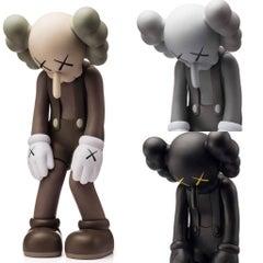 KAWS Small Lie complete set of 3 (KAWS brown, black & grey companions)