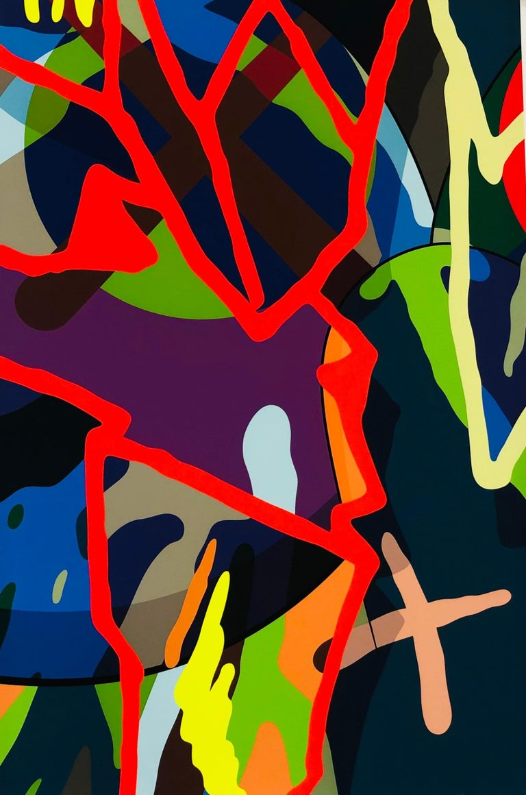 KAWS Abstract Print - Tension 8