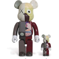 Dissected Companion Bearbrick set (Red) 400% & 100%