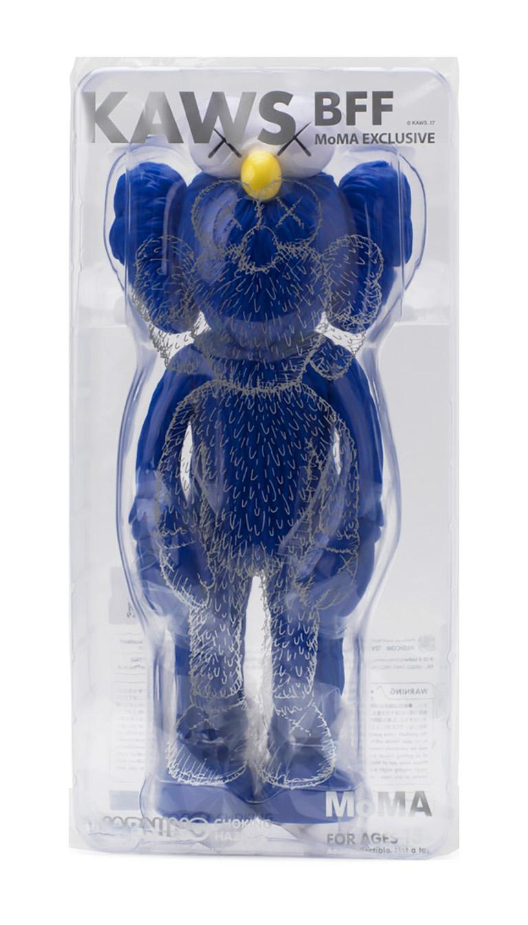 KAWS BFF Blue (KAWS Blue BFF Companion)  - Pop Art Sculpture by KAWS