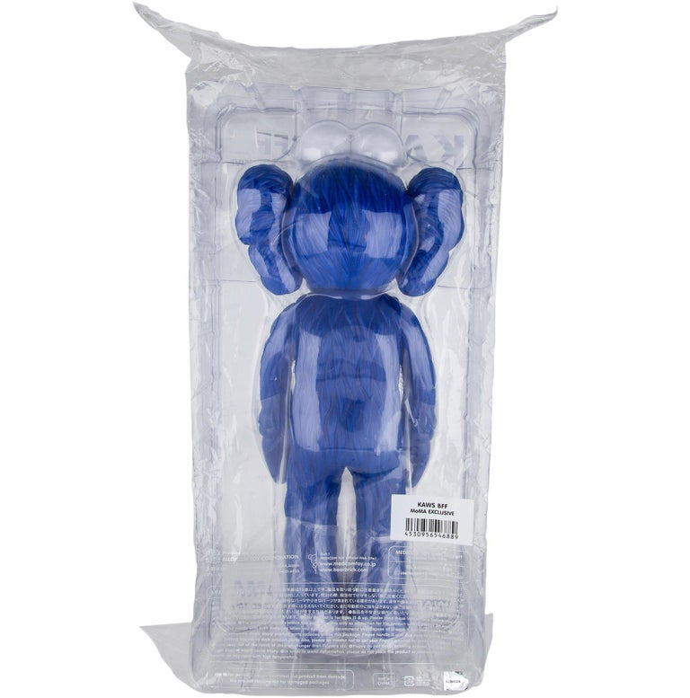 KAWS: BFF (Blue) - Original Vinyl Sculpture, Street art, Pop Art. MOMA For Sale 3