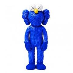 KAWS: BFF (Blue) - Original Vinyl Sculpture, Street art, Pop Art. MOMA