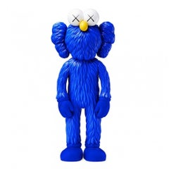 KAWS: BFF (Blue) - Original Vinyl Sculpture, Street art, Pop Art. MOMA