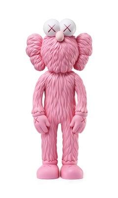 KAWS: BFF (Pink) - Original Vinyl Sculpture, Street art, Pop Art. MOMA